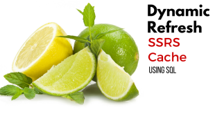 Dynamic Refresh SSRS Cache Using SQL